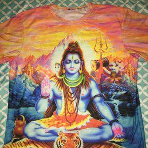 Yizzam Hindu God Shiva 2XL All Over Print Tshirt